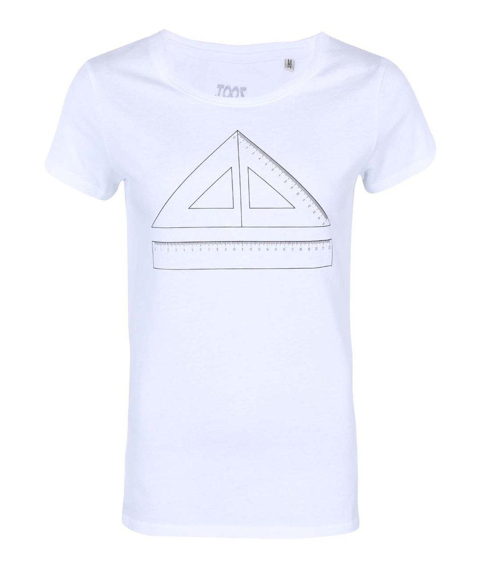 Bílé dámské triko ZOOT Originál Pravítko