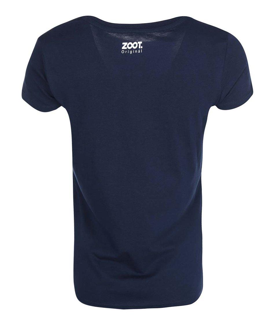 Tmavě modré dámské triko ZOOT Originál Vím, že nic nevím