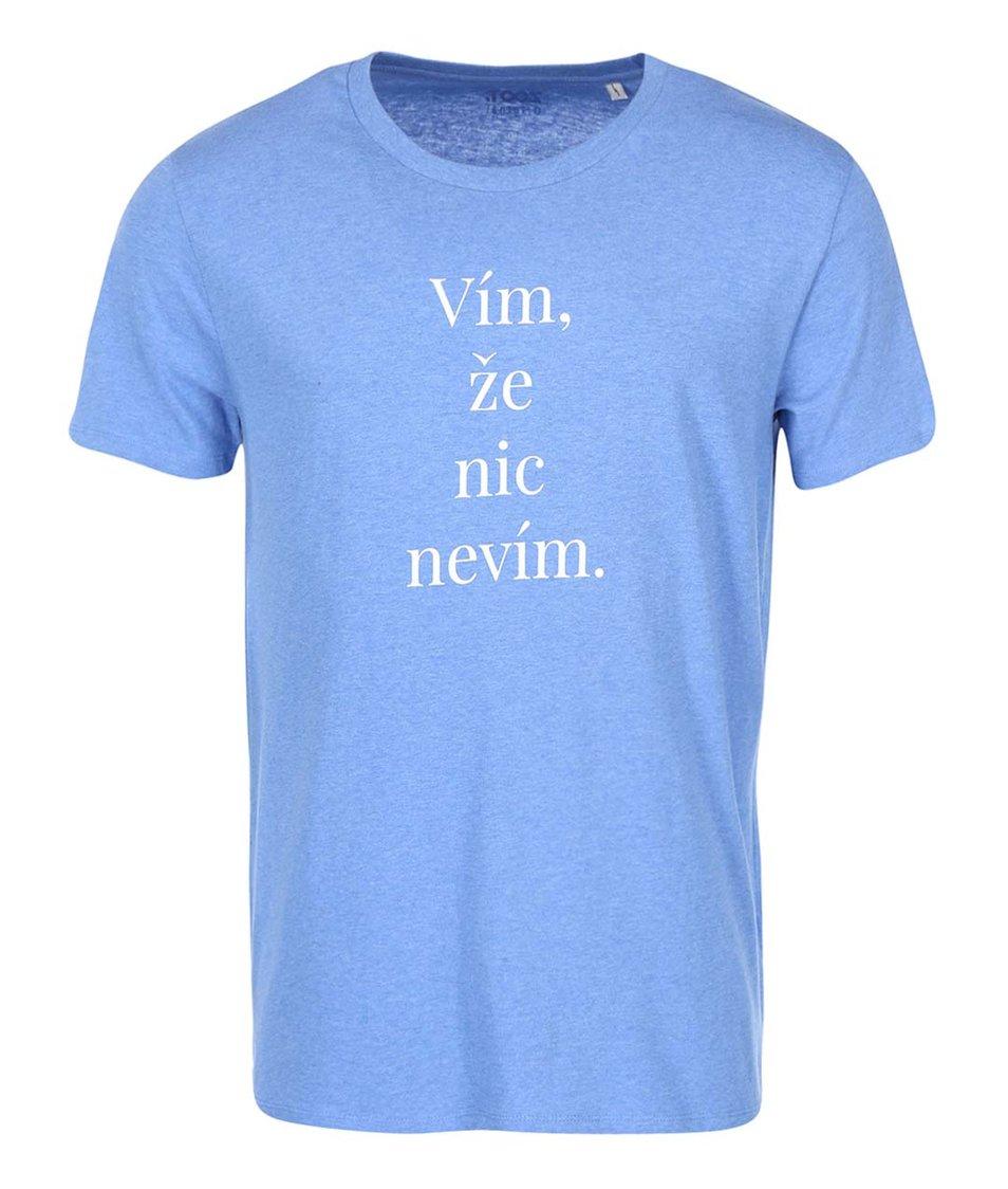 Modré pánské triko ZOOT Originál Vím, že nic nevím