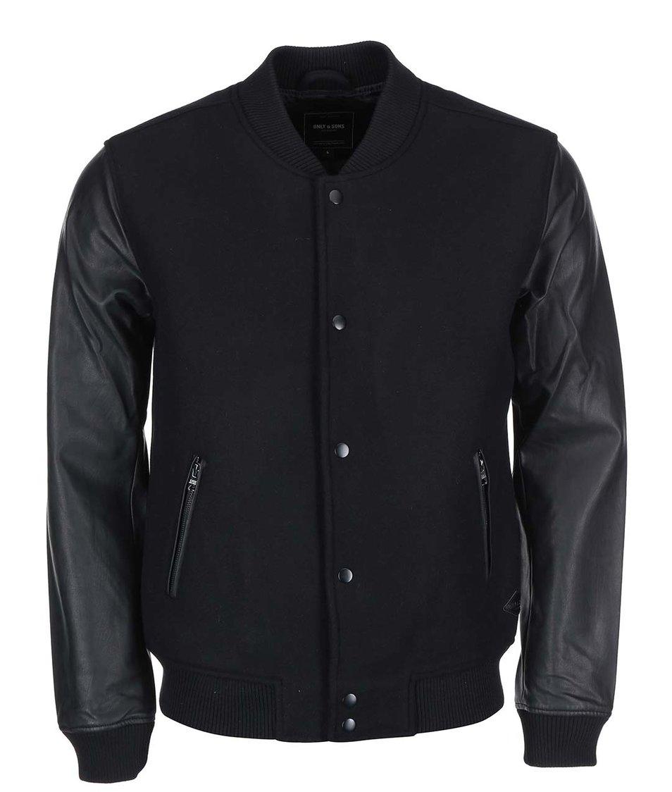 Černá pánská bunda ONLY & SONS Sanford