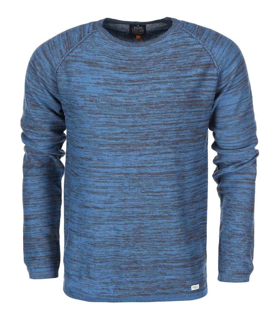 Modrý žíhaný svetr Blend