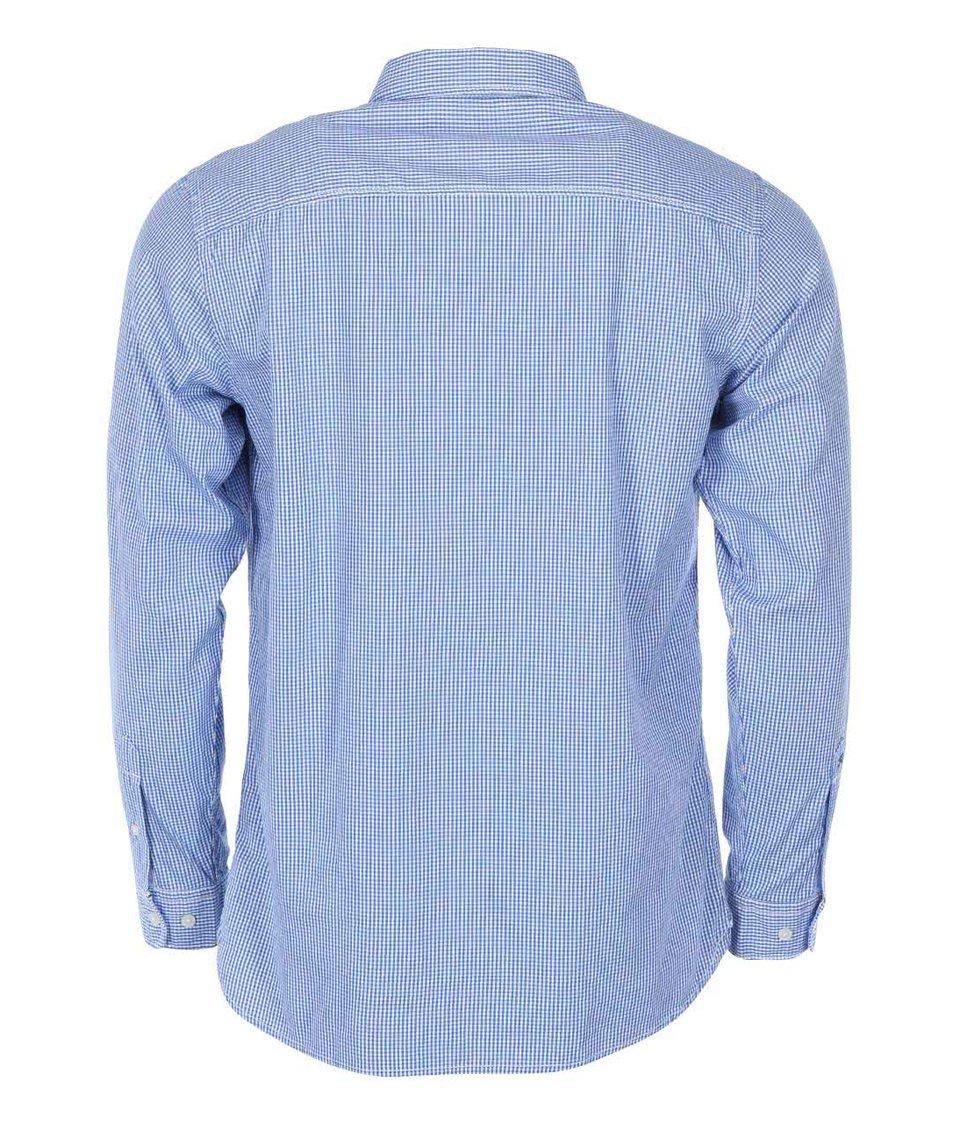 Modrá kostkovaná košile Selected Marius