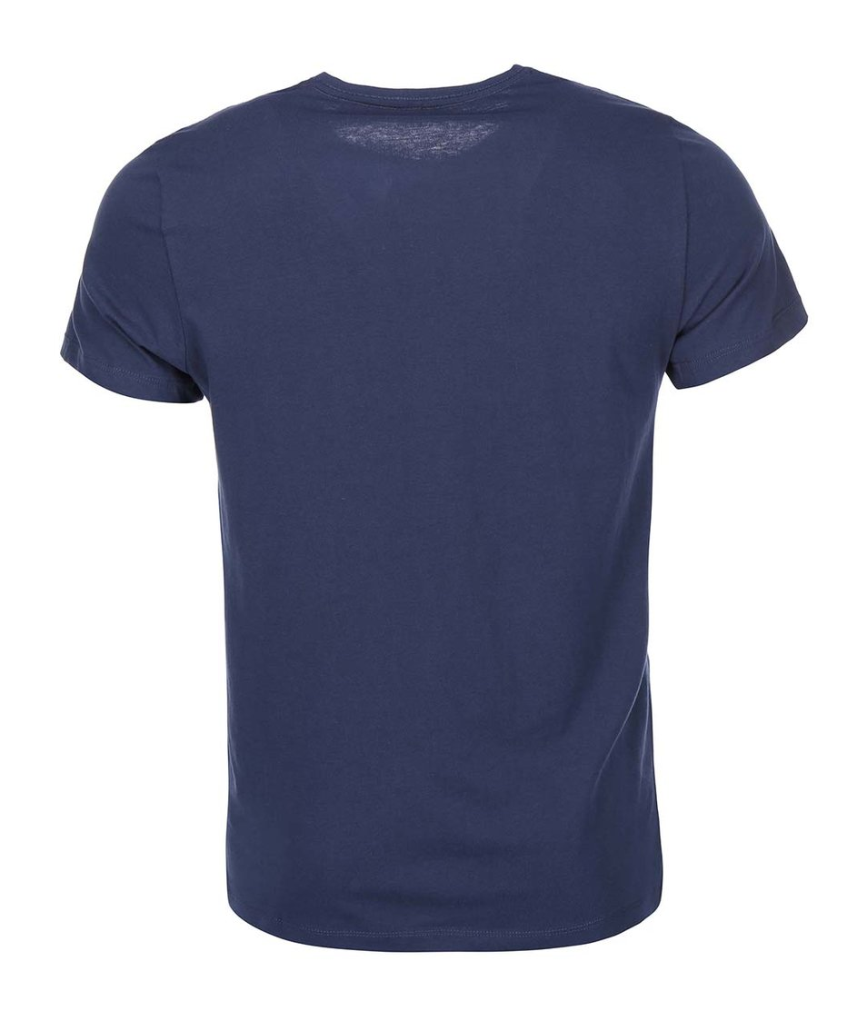 Tmavě modré triko s medvědem Blend