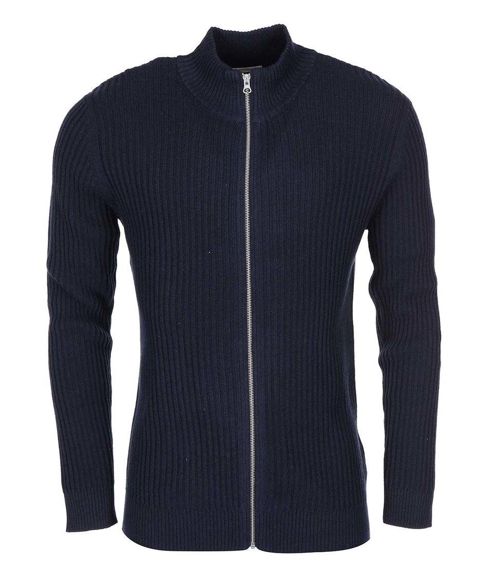 Tmavě modrý svetr na zip Selected Mertin
