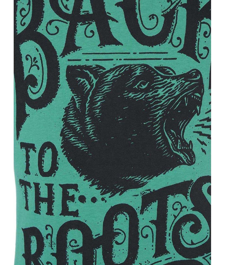 Zelené triko s medvědem Blend