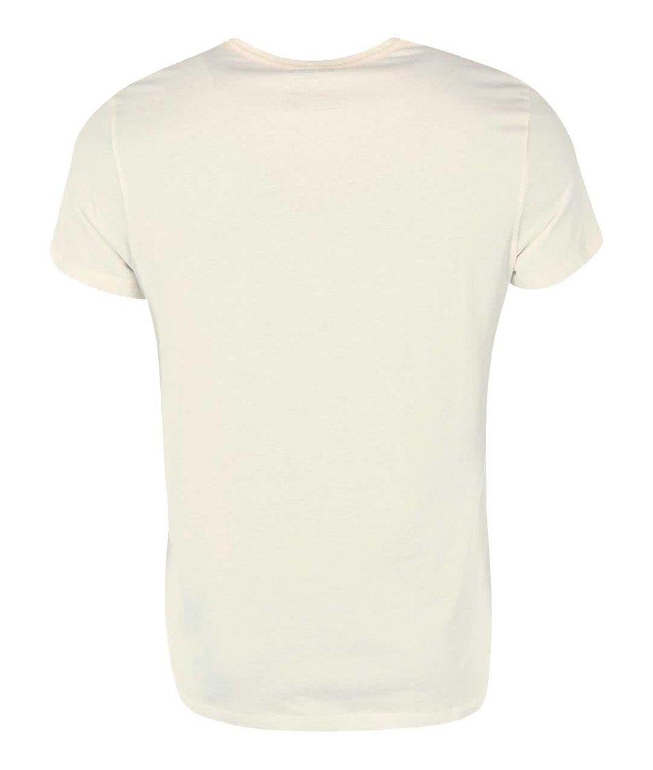 Krémové triko s medvědem Blend