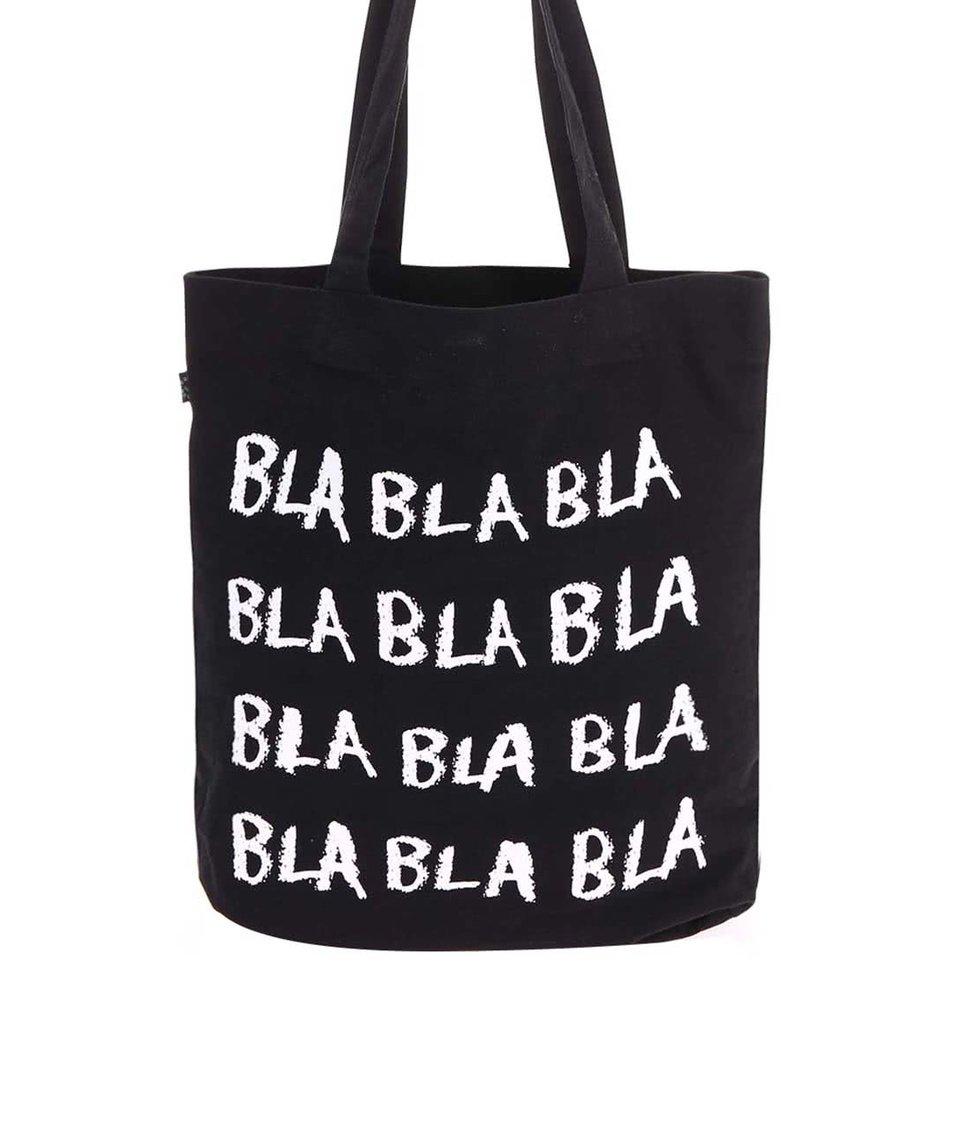 Černá plátěná taška ZOOT Originál Bla bla bla