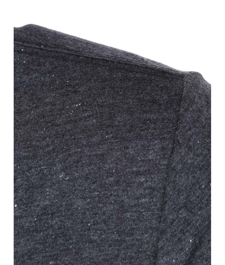 Tmavě šedé triko s vintage textem Blend