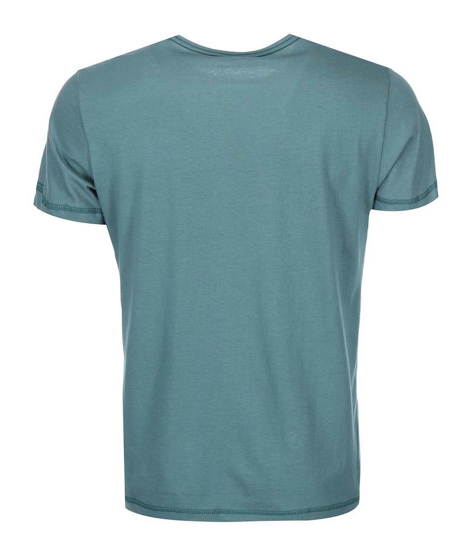 Tmavě zelené triko se šimpanzem Blend