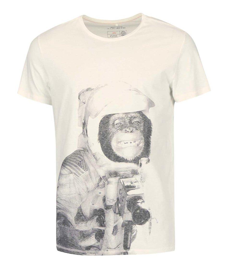 Krémové triko se šimpanzem Blend