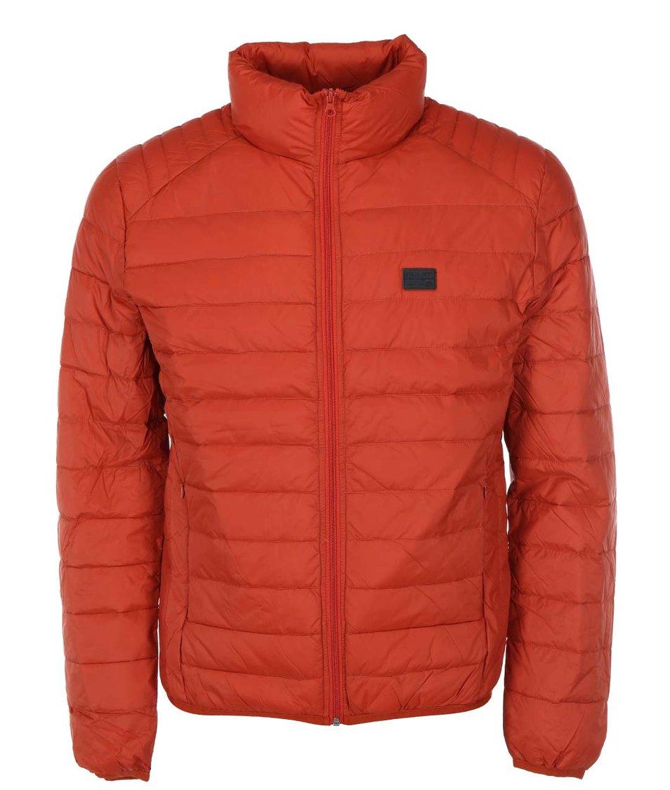 Oranžovočervená prošívaná bunda Blend