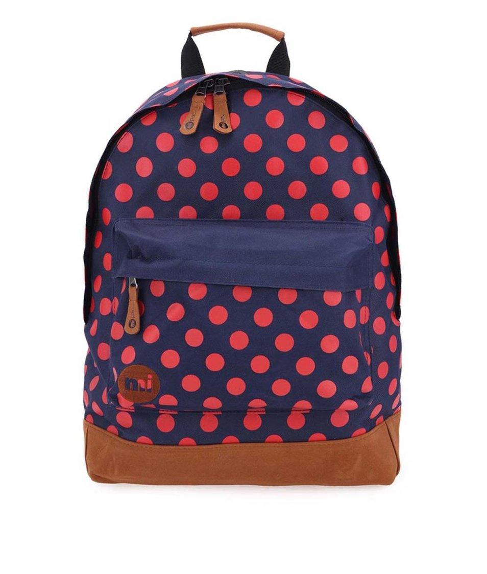 Tmavě modrý dámský batoh s červenými puntíky Mi-Pac All Polka