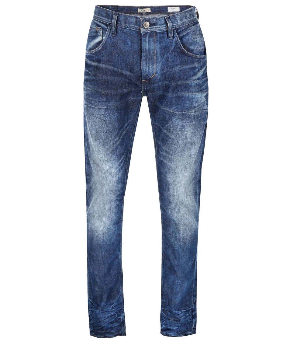 Modré vyšisované slim džíny Blend