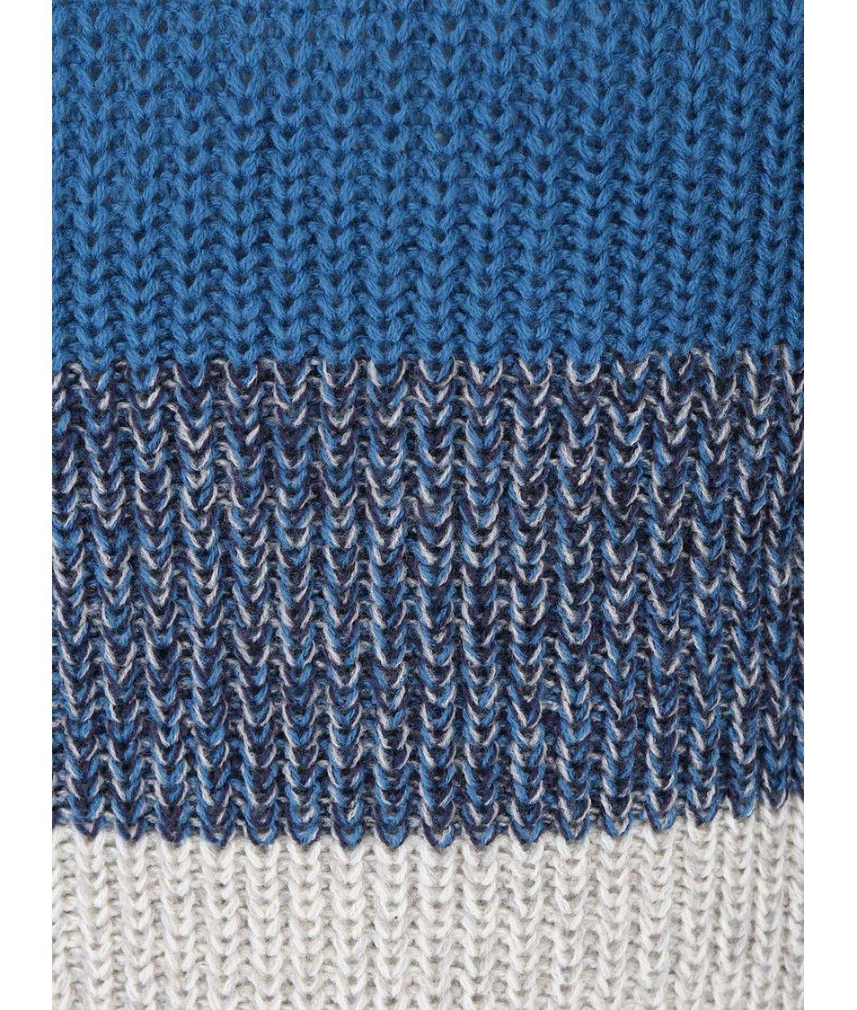 Modrý svetr s pruhy Blend