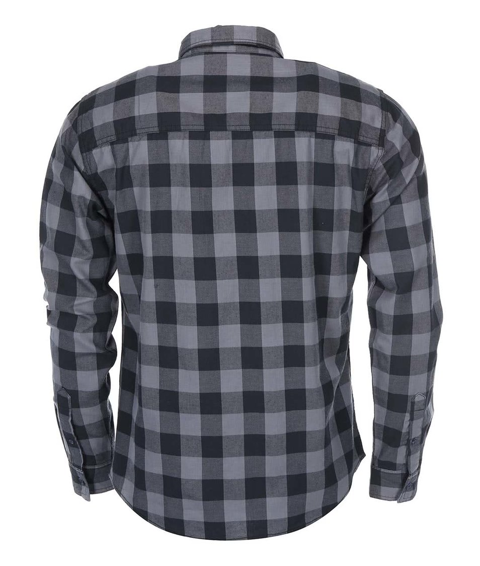 Šedo-černá kostkovaná košile Blend