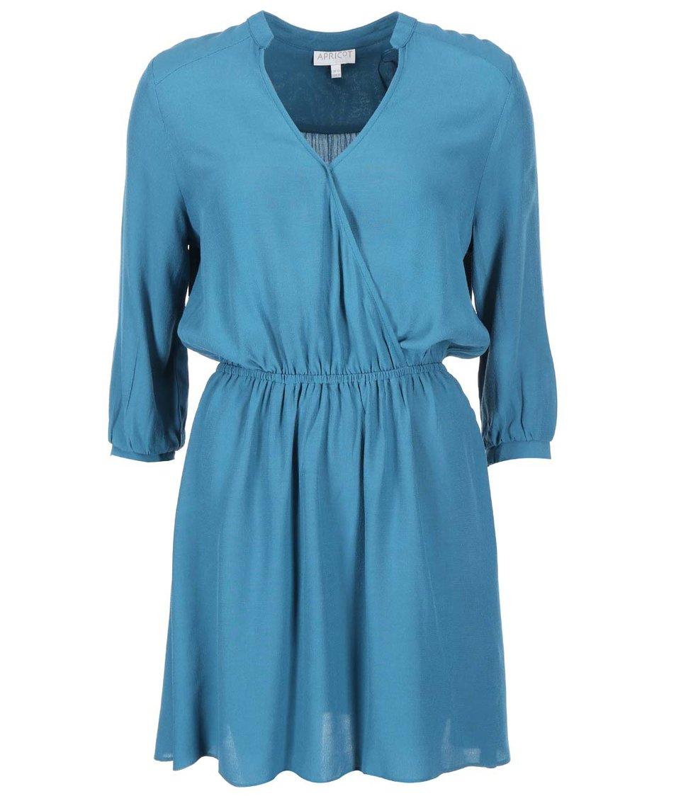 Tyrkysové šaty s 3/4 rukávy Apricot