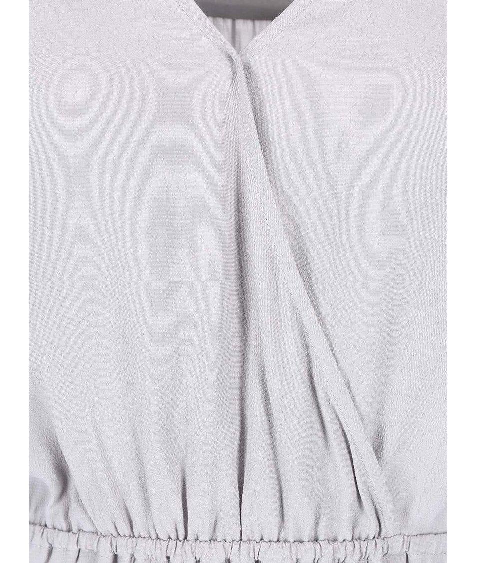 Šedé šaty s 3/4 rukávy Apricot