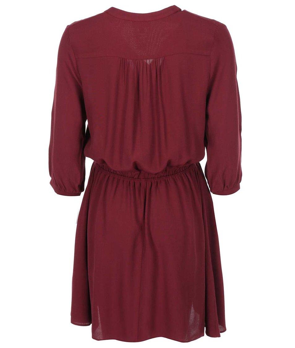 Vínové šaty s 3/4 rukávy Apricot