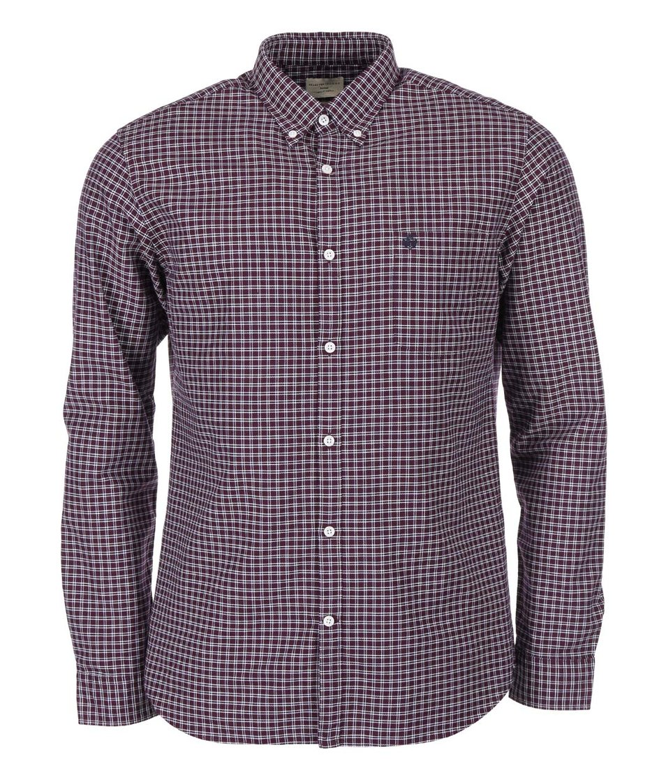 Fialová kostkovaná košile Selected Collect