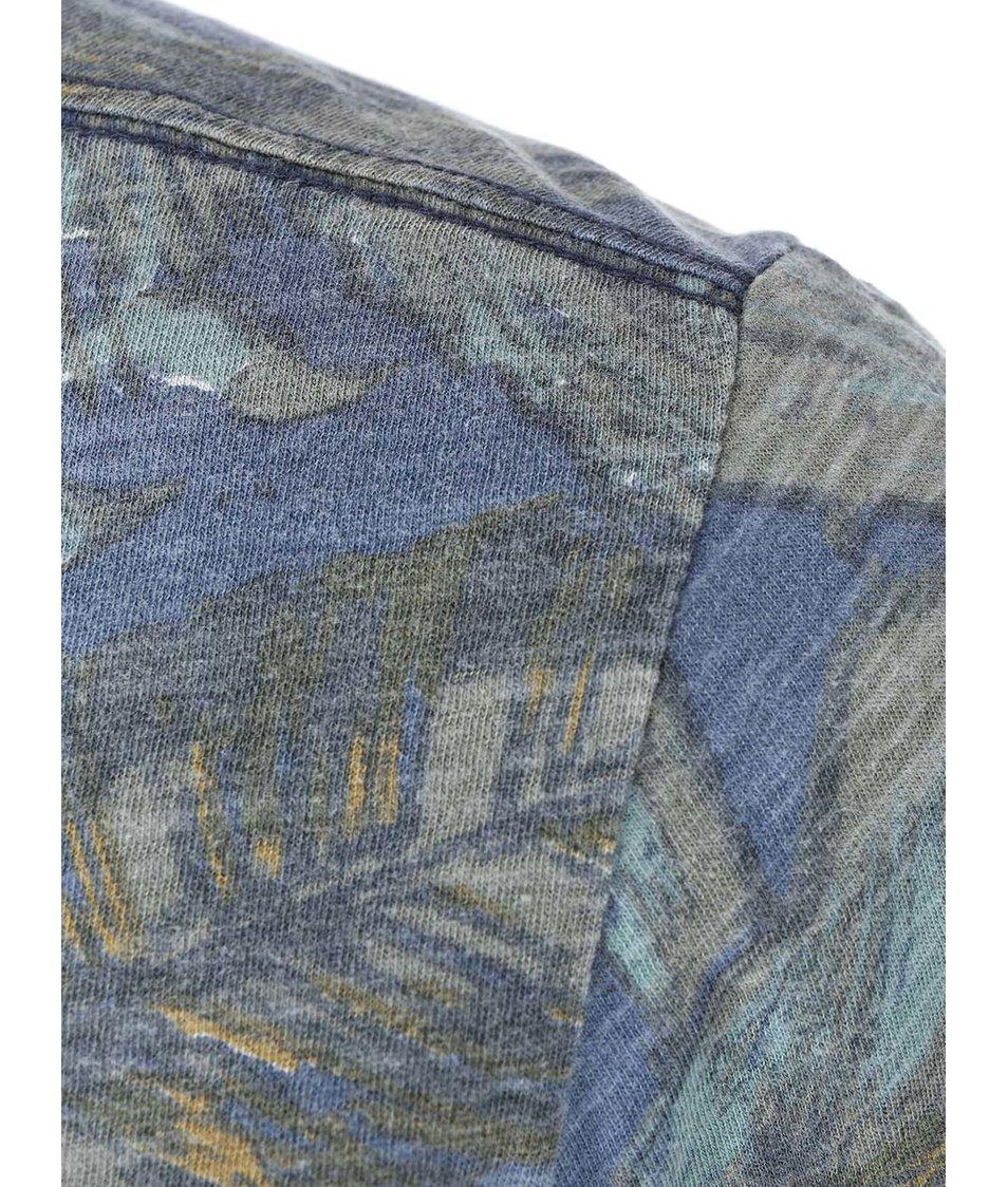 Modro-zelené triko se vzorem Blend