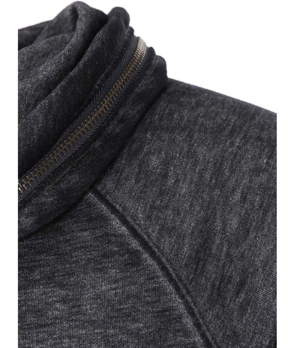 Černá žíhaná mikina s límcem Blend
