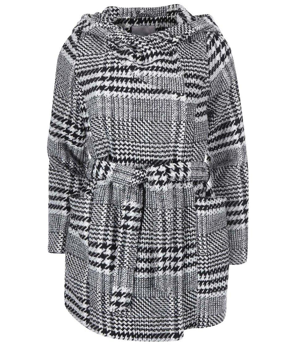 Černo-bílý kabát s kohoutí stopou Vero Moda Welling