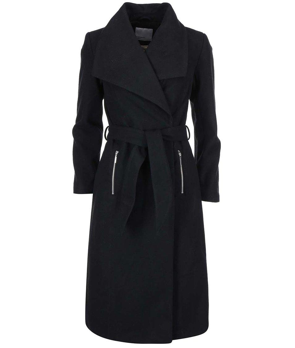 Černý delší kabát Vero Moda Kate Daisy