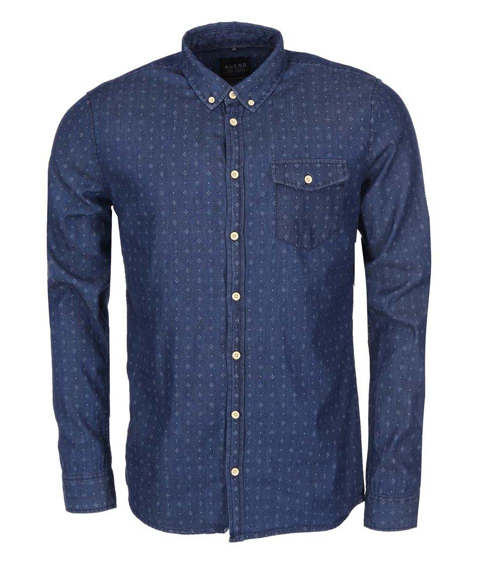 Modrá košile s dlouhým rukávem Blend