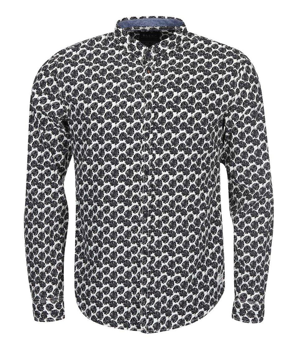 Černo-bílá košile se vzorem listů Blend