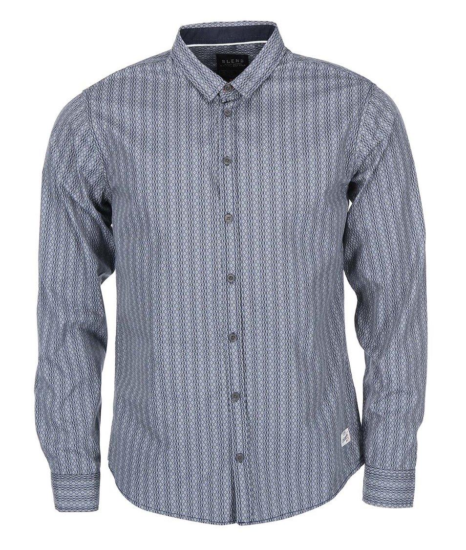Modrošedá vzorovaná košile Blend