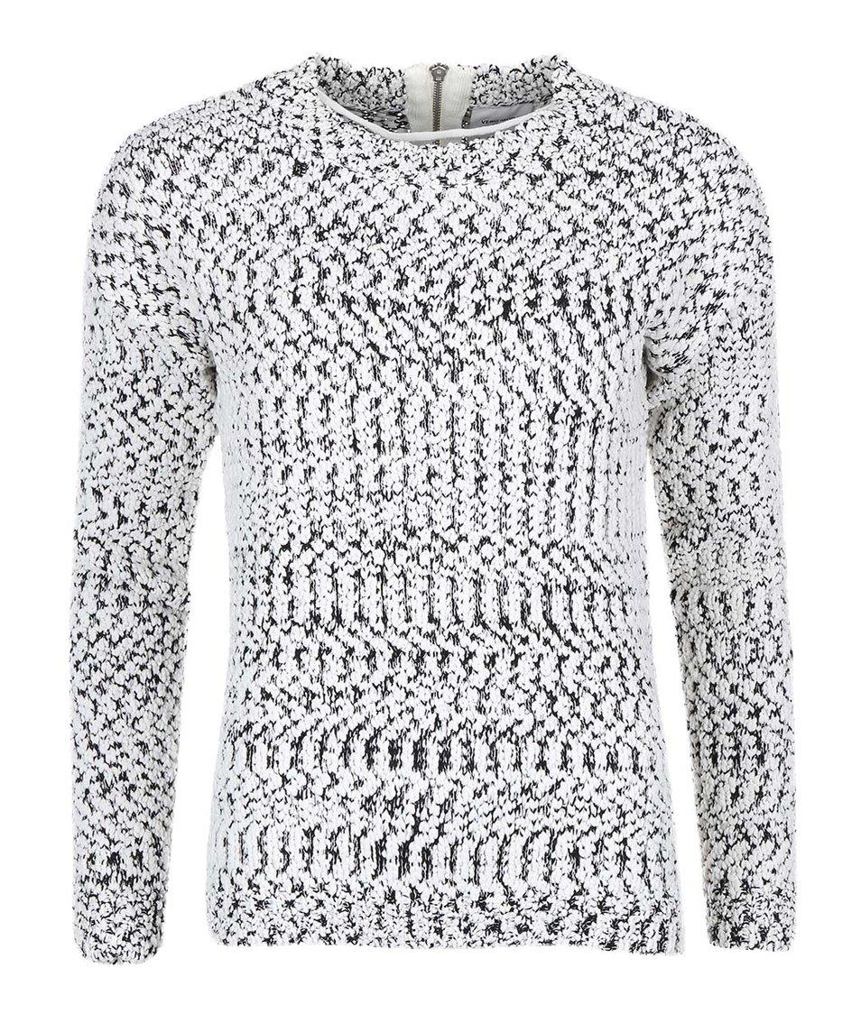 Černo-bílý svetr se zipem Vero Moda Kimperly