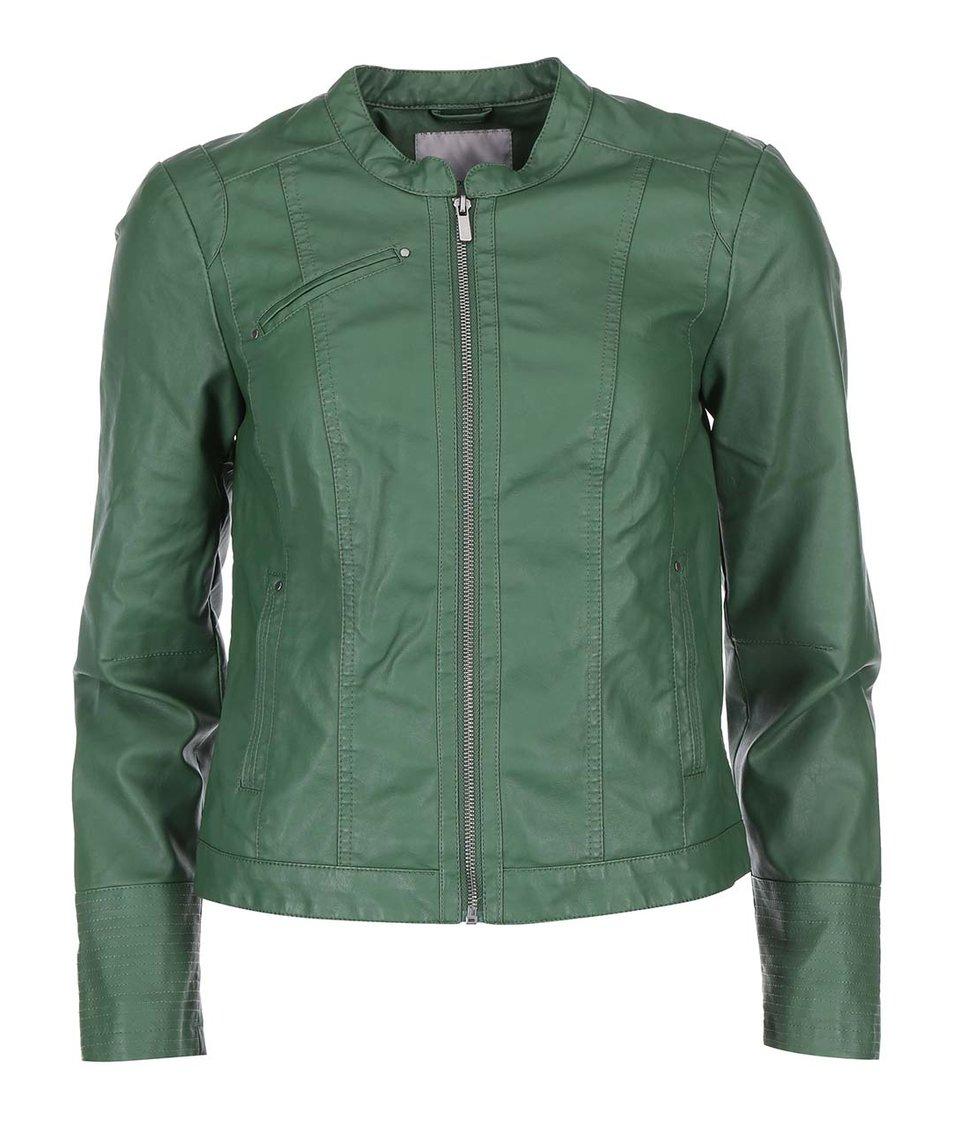 Zelená koženková bunda Vero Moda Student