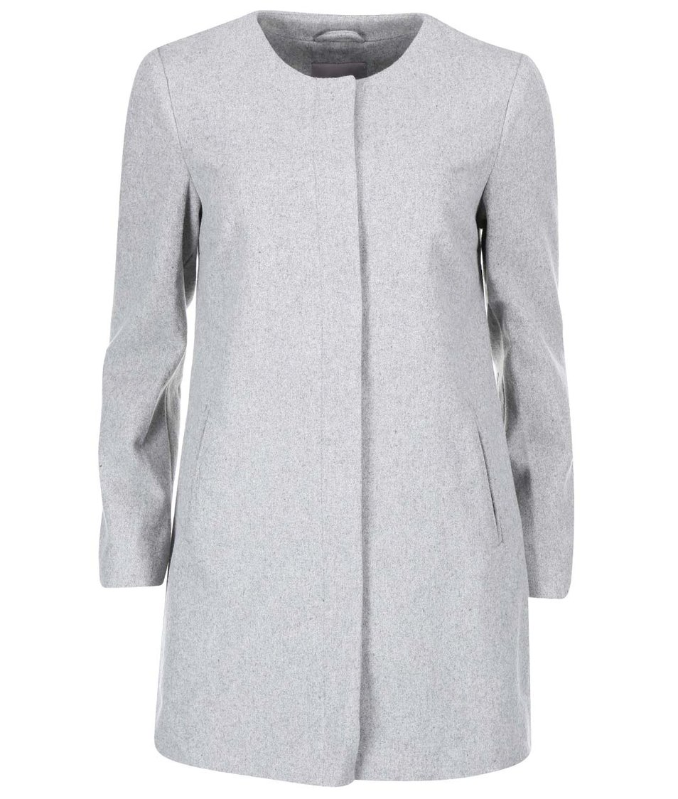 Světle šedý delší kabát Vero Moda Louise Daisy