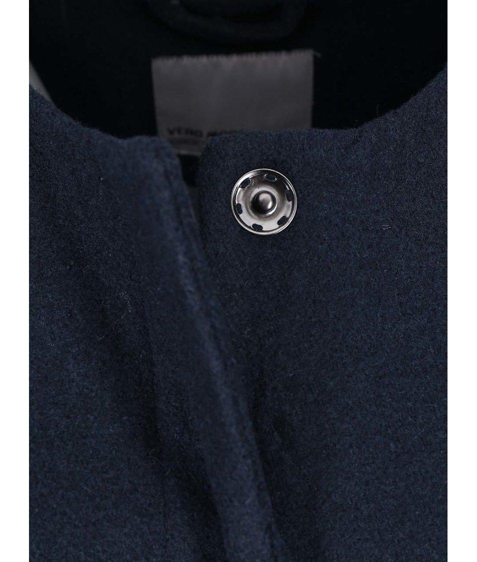 Modrý delší kabát Vero Moda Louise Daisy