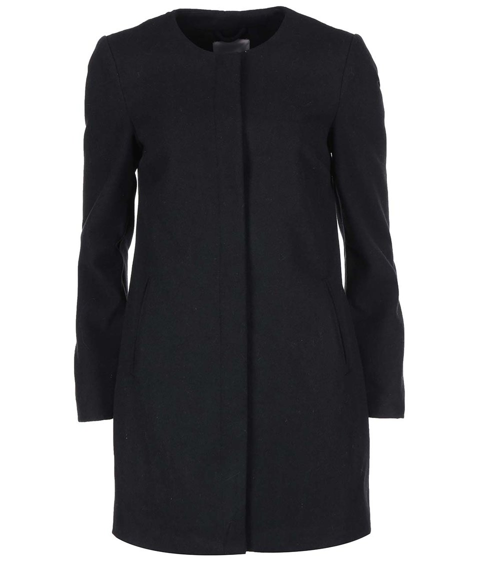 Černý delší kabát Vero Moda Louise Daisy