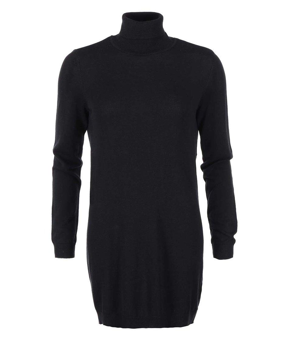 Černé rolákové šaty VILA Lo
