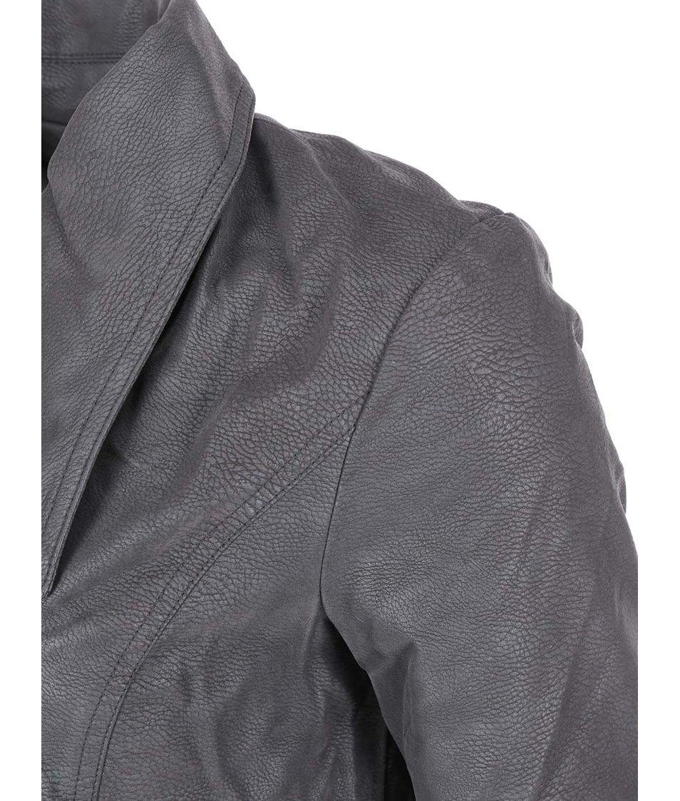 Tmavě šedá bunda Vero Moda Lizzy