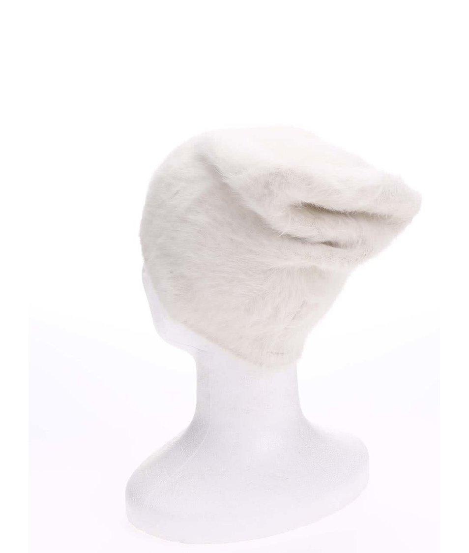 Bílá chlupatá čepice Vero Moda Johanne