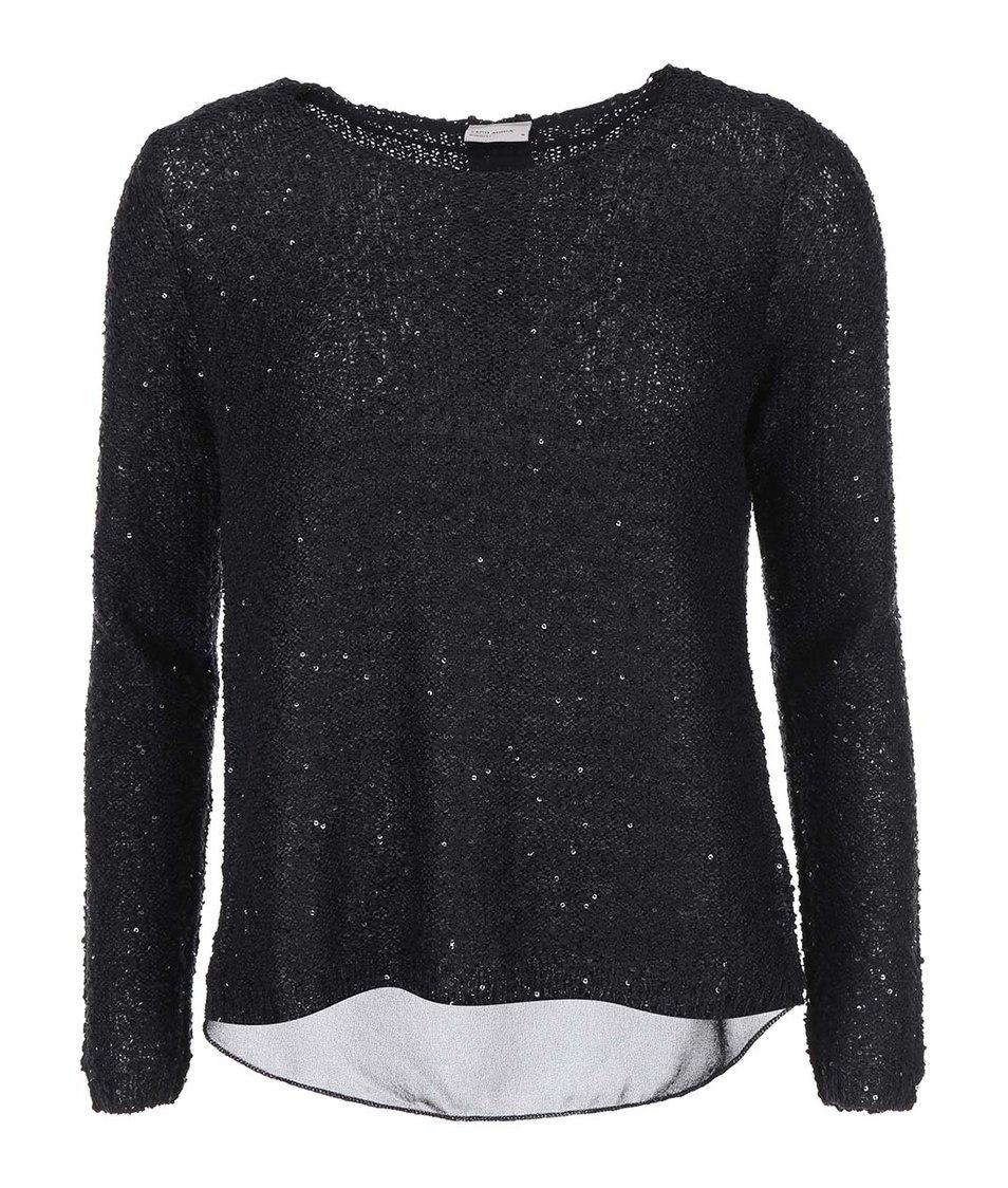 Černý flitrovaný svetr Vero Moda Cori