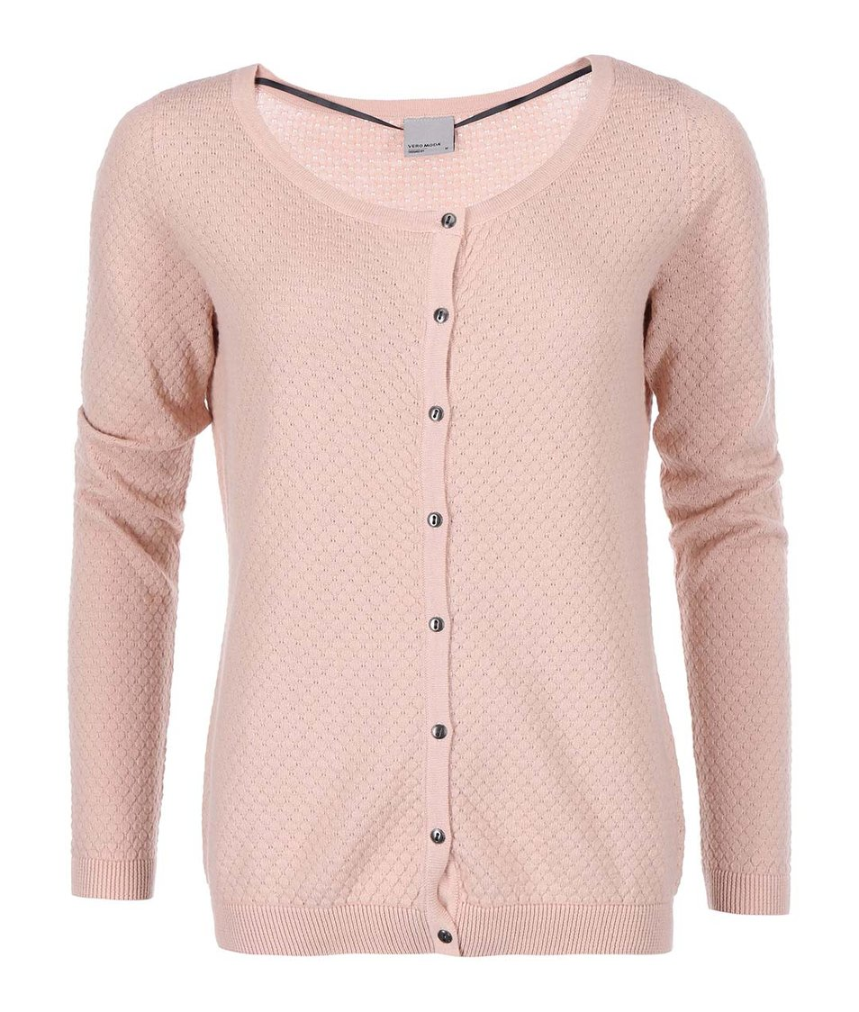 Růžový cardigan Vero Moda Care