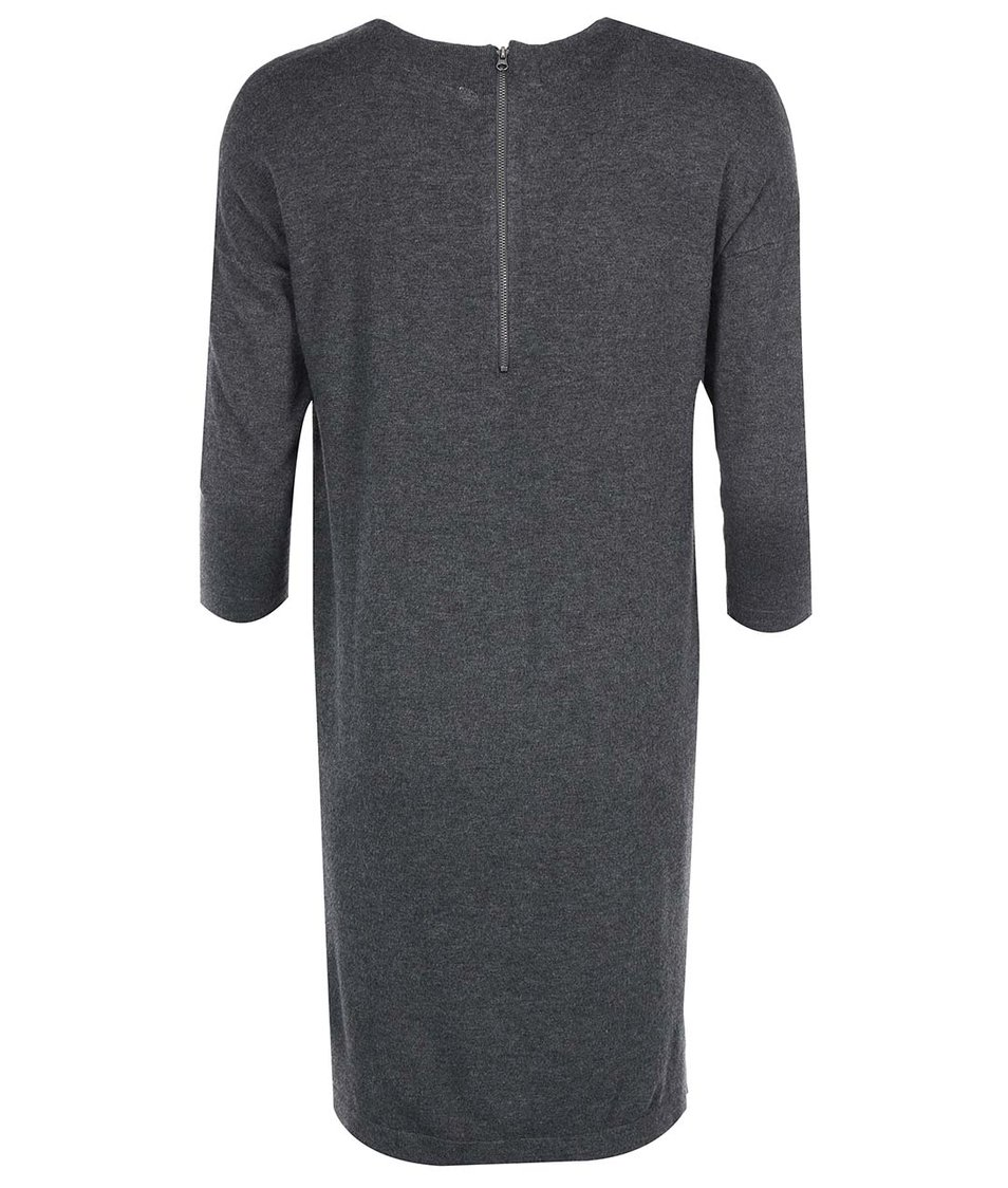 Tmavě šedé volnější šaty Vero Moda Glory