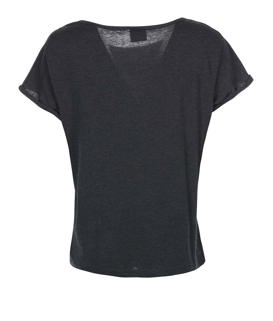 Tmavě šedé triko s potiskem Vero Moda Dedication