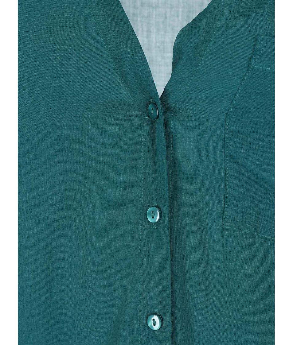 Zelená halenka s 3/4 rukávy Vero Moda Sue Ella