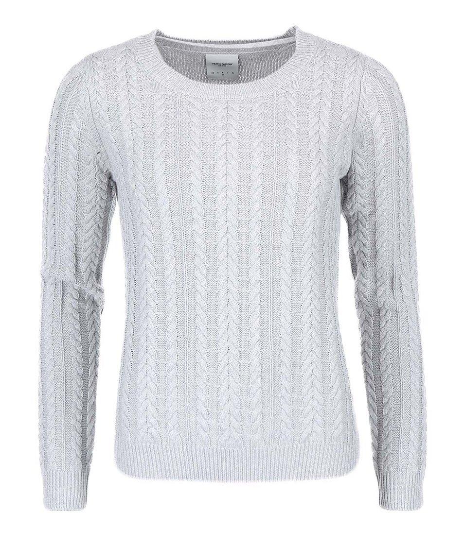 Šedý bavlněný svetr Vero Moda Walnut