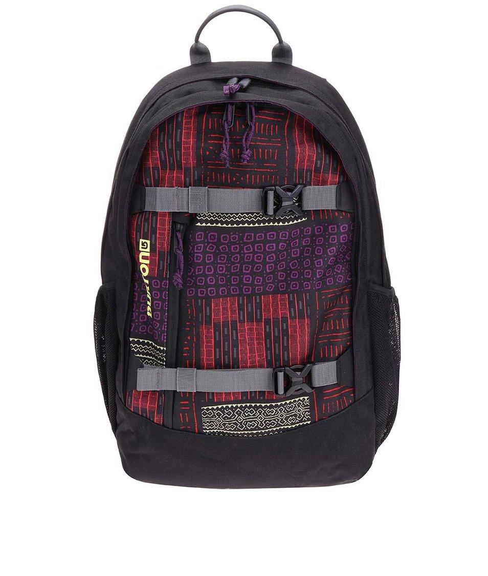 Černý dámský batoh s barevným vzorem Burton WMS Day Hiker