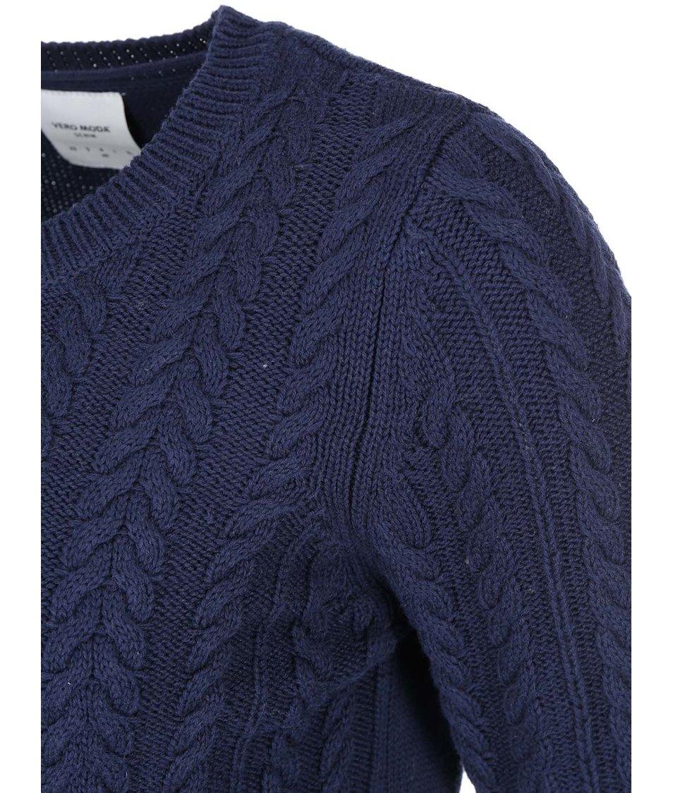 Tmavě modrý bavlněný svetr Vero Moda Walnut