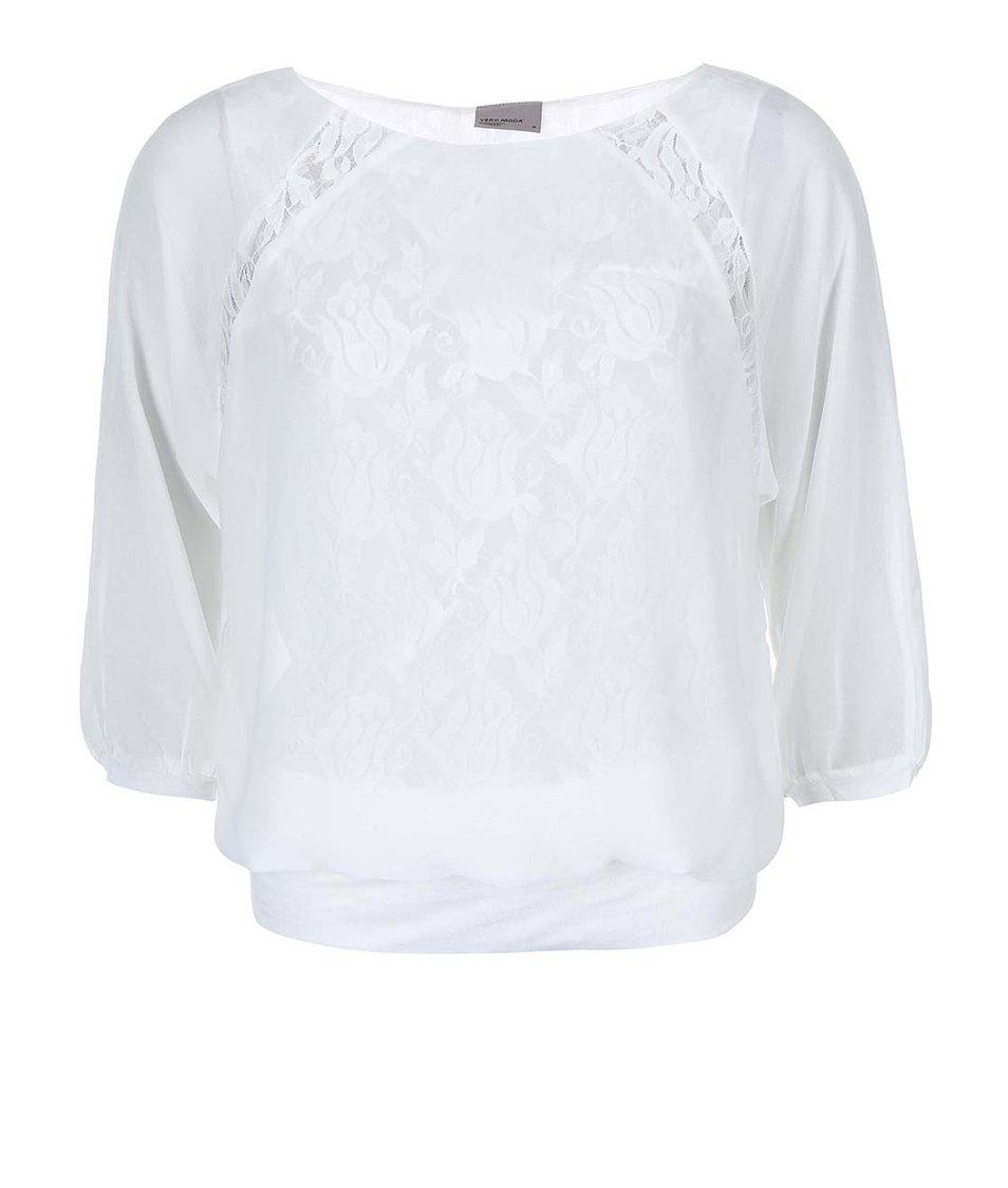 Bílá krajkovaná halenka Vero Moda Alica