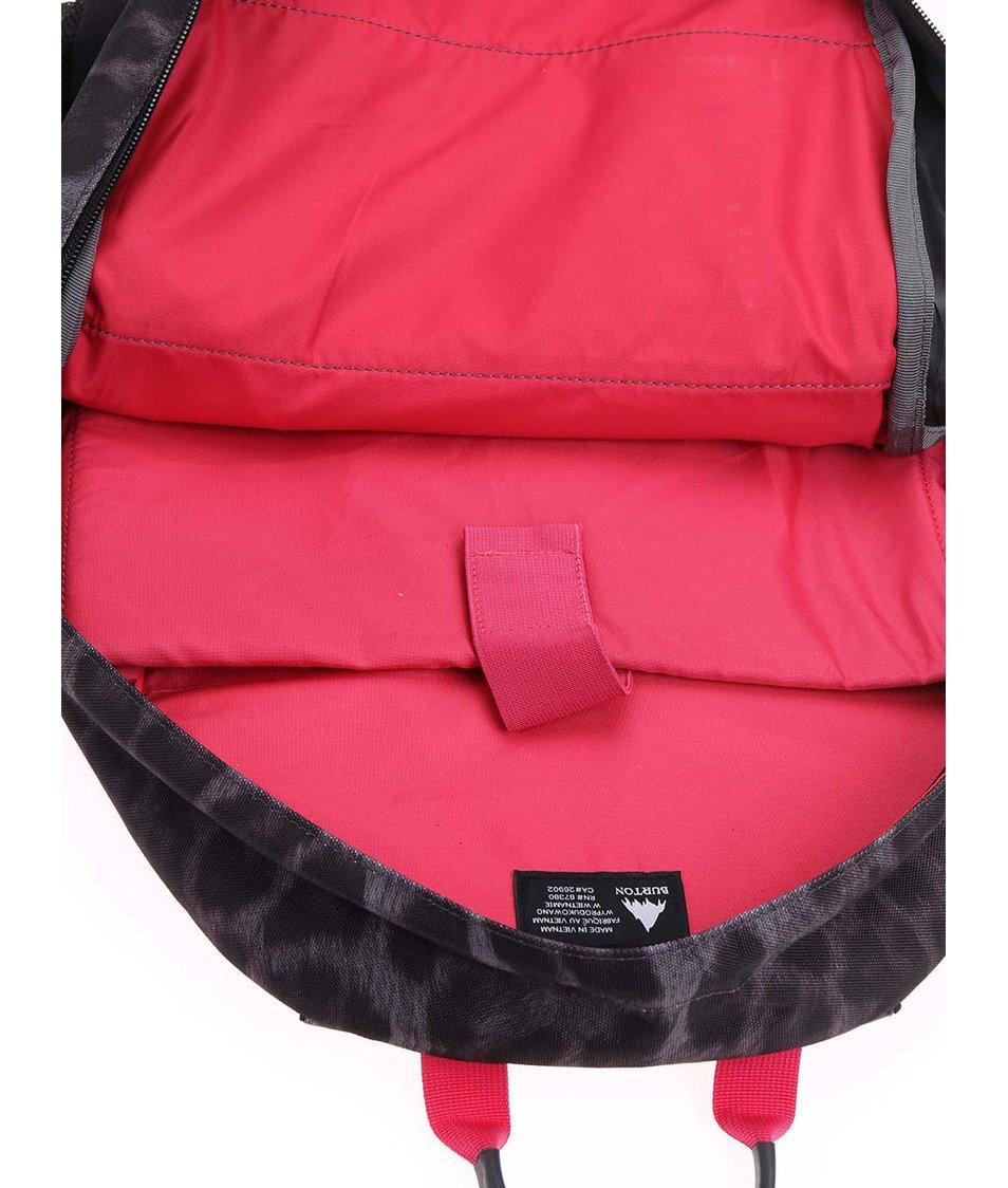 Růžovo-černý dámský batoh s gepardím vzorem Burton WMS Day Hiker
