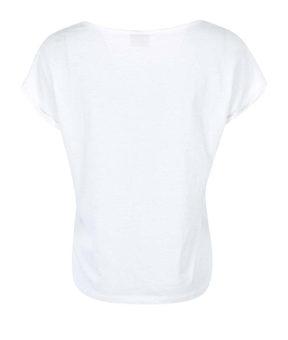 Bílé triko s potiskem Vero Moda Own Print