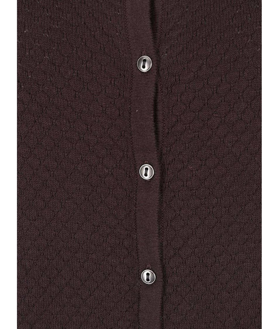 Hnědý cardigan s kulatým výstřihem Vero Moda Care